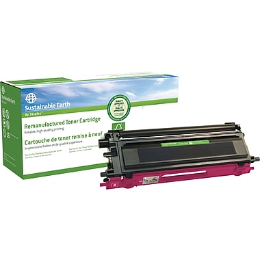 Sustainable Earth by Staples™ Remanufactured Magenta Toner Cartridge, Brother TN-115M, High Yield