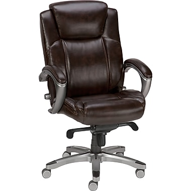 Staples Nickerson Bonded Leather Managers Chair, Brown