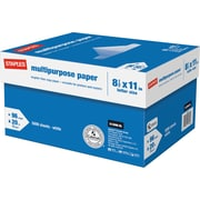"Staples Multipurpose Paper 8 1/2"" x 11"" Case"