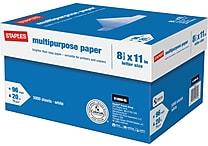 Staples® Multipurpose Paper, 8 1/2' x 11', Case