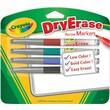 Crayola® 98-8629 DryErase Marker, Bullet Tip, Assorted
