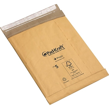 Pad-Kraft Self-Seal Padded Mailers, 8 1/2in. x 12in.