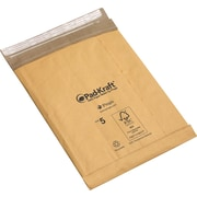 "Staples Pad-Kraft Self-Seal Padded Mailers, Bag Size #2, 08-1/2""W x 12""L, Brown, 100/Case (50704)"
