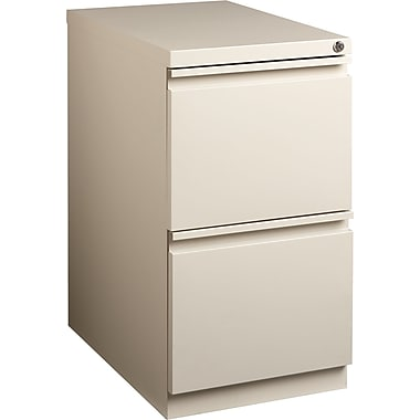 Staples 2-Drawer Mobile Pedestal File Cabinet, Putty (20-Inch)