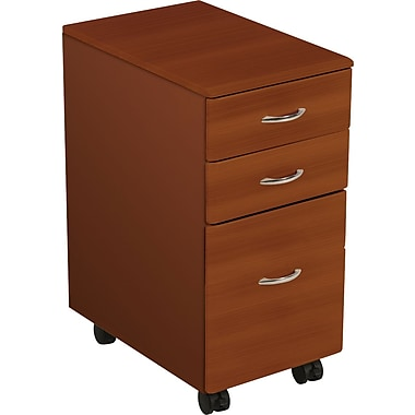 Balt® iFlex™ Balt iFlex 3-Drawer Mobile File Cabinet, Cherry, Letter/Legal (90005)