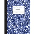 Staples® Composition Notebook, Wide Ruled, Blue, 9-3/4in. x 7-1/2in.