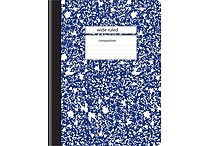 Staples® Composition Notebook, Wide Ruled, Blue, 9-3/4' x 7-1/2'