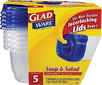 GladWare Soup Salad Containers 24 oz. 5 Pack