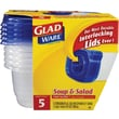 GladWare® Soup & Salad Containers, 24 oz., 5/Pack