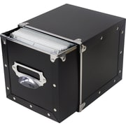 Memorex File-N-Store CD/DVD Storage Box, Black