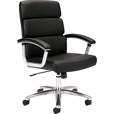 basyx by HON VL103 Leather High-Back Executive Chair, Black