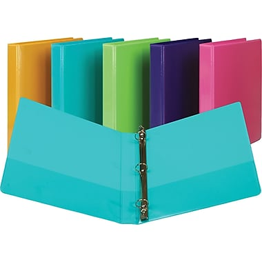 1in. Samsill Presentation View Binders with Round Rings, Turquoise, 2/Pack