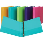 1 Samsill® Presentation View Binders with Round Rings, Turquoise, 2/Pack