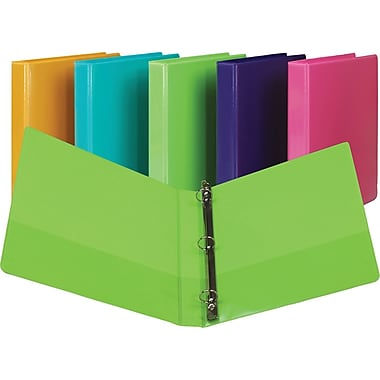 1in. Samsill Presentation View Binders with Round Rings, Lime Green, 2/Pack