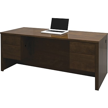 Bestar Prestige+ Double Pedestal Desk, Chocolate