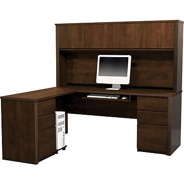 Bestar Prestige+ L-Workstation w/ Hutch and 2 Pedestals
