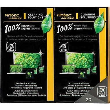 Antec Natural Cleaning Wipes, 20/Pack