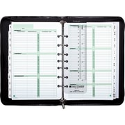 Day-Timer® Aristo Bonded Leather Starter Set, Zip Closure, Black, Desk Size