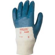 Ansell® HyLite® Palm Coated Gloves, Nitrile, Knit-Wrist Cuff, X-Large, Blue, 12 Pairs