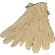 Anchor Brand Driver Gloves, Pigskin, Leather Cuff, Large, Gold