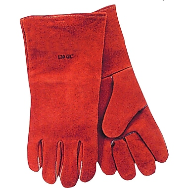 Anchor Brand Standard Quality Welding Gloves, Split Cowhide, Leather Cuff, Large, Russet