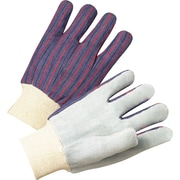 Anchor Brand Leather Palm Gloves, Split Cowhide, Knit-Wrist Cuff, Men's Size, Pearl Grey