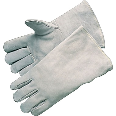 Anchor Brand Economy Welding Gloves, Leather, Gauntlet Cuff, Large, Gray, 12 Pairs