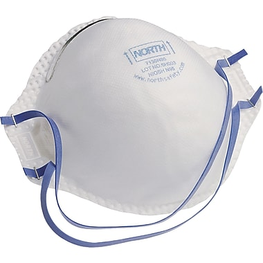 North Safety Disposable Particulate Respirators, N95, Particulate Aerosols Free of Oil, 20/Box