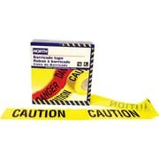 North Safety Barricade Tape, Yellow, 1000' Length