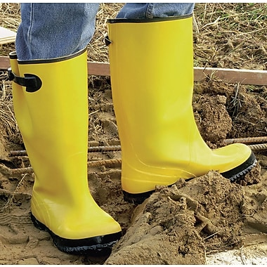 Anchor Brand Slush Boots, 15 Size, Yellow, Net Lining, 100% Waterproof