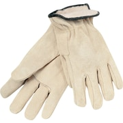Memphis Gloves® Driver's Gloves, Split Cow Leather, Slip-On Cuff, Large, Tan, 12 Pairs