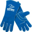 Memphis Gloves® Blue Beast® Welding Gloves, Side Leather, Gauntlet Cuff, Large, Blue, 12 Pairs