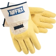 Memphis Gloves® Tufftex® Canvas Gloves, Cotton, Interlock Lined Safety Cuff, Large, Cream