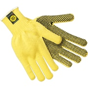 Memphis Gloves® Kevlar® Cut Resistant Gloves, Fiber, Knit-Wrist Cuff, Large, Yellow