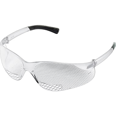 MCR Safety® BearKat Crews ANSI Z87 Magnifier Protective Glasses, Clear, 2.0 Diopter