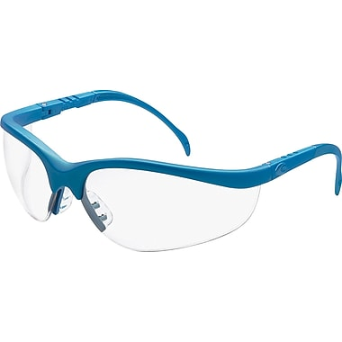 MCR Safety® Klondike Crews ANSI Z87 Protective Glasses, Light Blue