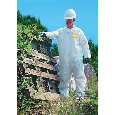 DuPont® ProShield® NexGen® Coveralls, 4XL Size, Front Zipper, White, 25/Carton