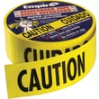 Empire® Level Safety, Caution/Barricade Tape, Yellow, 200' Length, 1/Roll