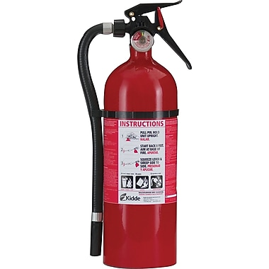 Kidde Multi-Purpose Dry Chemical Fire Extinguisher, Aluminum, 195 psi