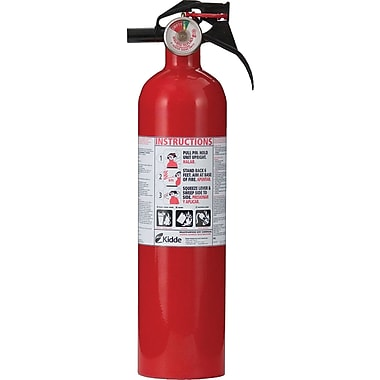 Kidde Kitchen/Garage Sodium Bicarbonate Fire Extinguisher, Aluminum, 100 psi