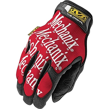 Mechanix Wear® Original® High Dexterity Gloves, Spandex/Synthetic, Hook & Loop Cuff, Medium, Red