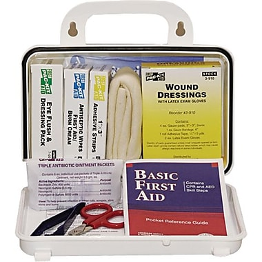 Pac-Kit Weatherproof Plastic First Aid Kit, 57 pieces for 10 People