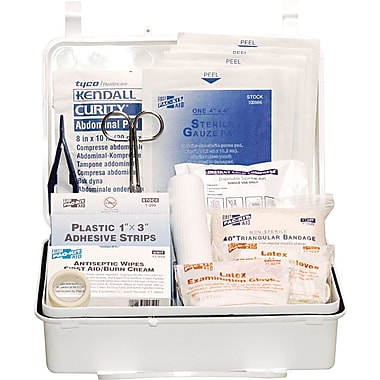 Pac-Kit Weatherproof Plastic First Aid Kit; 159 pieces for 25 People