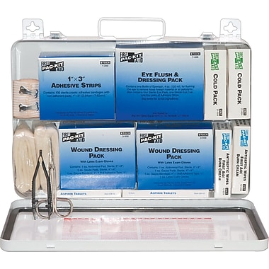 Pac-Kit Weatherproof Steel First Aid Kit, 218 pieces for 50 People
