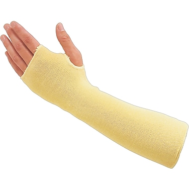 Sperian® Heat & Cut Resistant Sleeves, Kevlar, 18in. Size, Yellow, 100/Carton