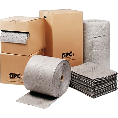 SPC® MRO Plus™ Sorbents, Pad, 15in. x 19in., 20.5 gal, Three Ply, 100/Carton