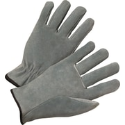 Anchor Brand Economy Driver Gloves, Cowhide Leather, Hemmed Cuff, Medium, Pearl Grey, 12 Pairs