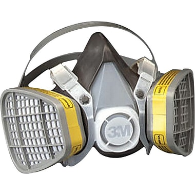 3M OH&ESD Half Facepiece Respirator, Organic Vapors/Acid Gases, Large