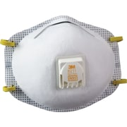 3M OH&ESD Half Facepiece Particulate Respirator, N95, Non-Oil Particulates, Fixed Strap, 10/Box
