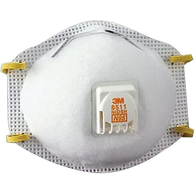 3M OH&ESD Half Facepiece Filtering Particulate Respirators, N95, Non-Oil Particulates, 10/Box